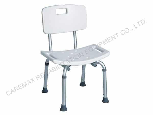 כסא רחצה אלומיניום טלסקופי עם משענת גב
