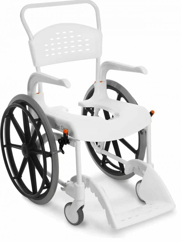 כסא רחצה ושירותים clean עם גלגלי הנעה עצמית