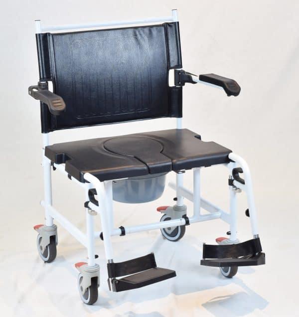 "Nature Plus כסא רחצה ושירותים אלומיניום לכבדי משקל רוחב 61 ס""מ"