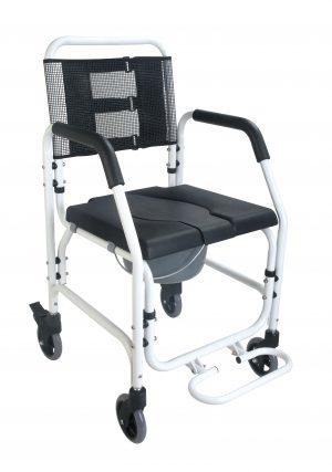 """כסא רחצה ושירותים אלומיניום רוחב מושב 45 ס""""מ"""