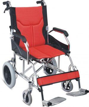 ToGo כסא גלגלים קל משקל להעברה עם מעצור יד למלווה