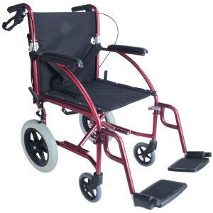 Lite Ride Deluxe כסא גלגלים קל משקל להעברה עם מעצור יד למלווה