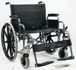 "Heavy Duty Steel כסא גלגלים לכבדי משקל רוחב 61 ס""מ צלב כפול עד 250 קילו"