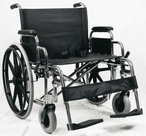 "Heavy Duty Steel כסא גלגלים לכבדי משקל רוחב 51 ס""מ צלב כפול עד 250 קילו"