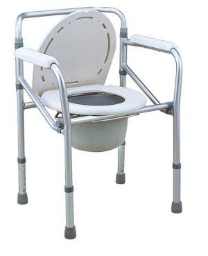כסא קומודה לשירותים אלומיניום מתקפל