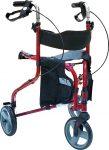 Triple רולטור 3 גלגלים עם מושב ומשענת גב מתקפל
